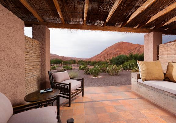 Alto Atacama Desert Lodge - Julia Malchow Lieblingshotels - Luxushotels Atacamawüste Chile Südamerika - Zimmer Terrasse
